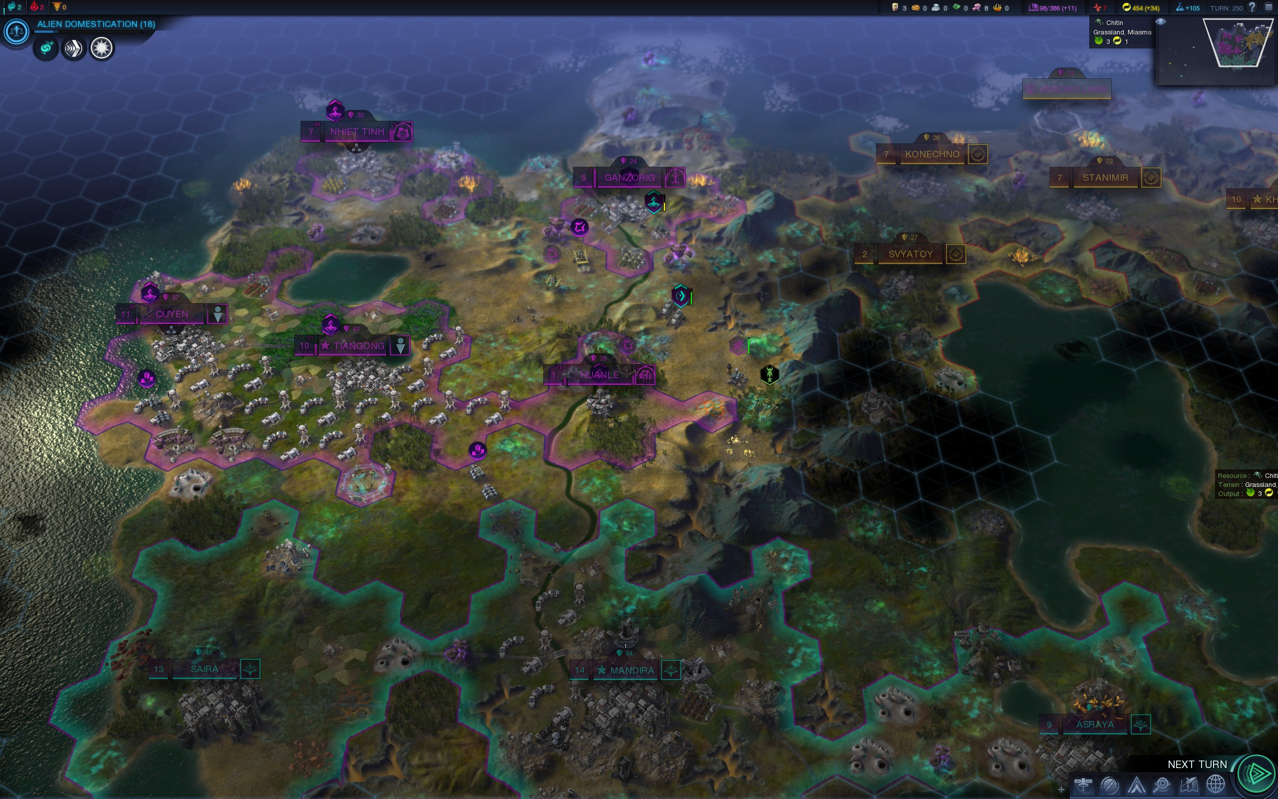 250 Turns into first CivBE game.