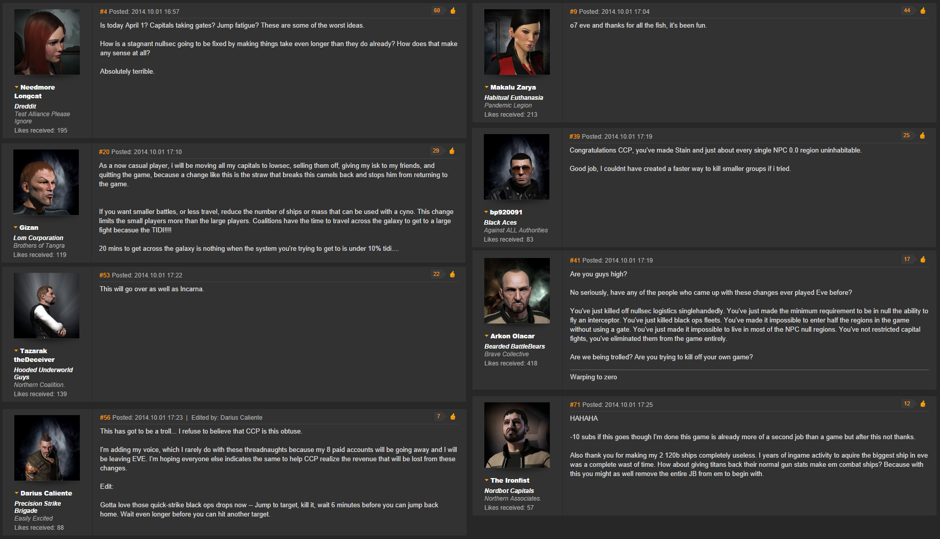 Negative Responses to Jump Changes in EVE Online