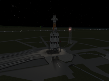 Dres Lander One on the Launch Pad