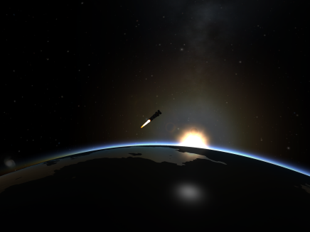 Dres Lander One Heading for Orbit