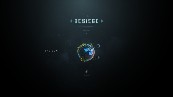 Besiege Main Screen