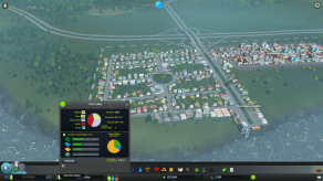 At some point you'll want to divide your city into districts to help you manage it more effectively. This a a feature I've not seen in other city simulations. I really like it. It not only guides different areas of your city in slightly different directions, but it can also help balance the needs of the public with the needs of the budget. For example, I save a little coin by not requiring industrial areas to use smoke detectors. And they were happier for less regulation! I lolz all the way to the bank on that one. :D