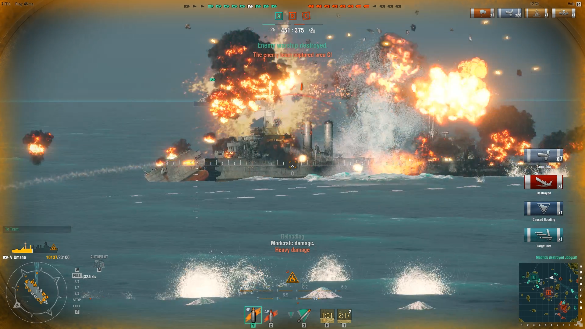 Taking Out Another Omaha with Torpedos