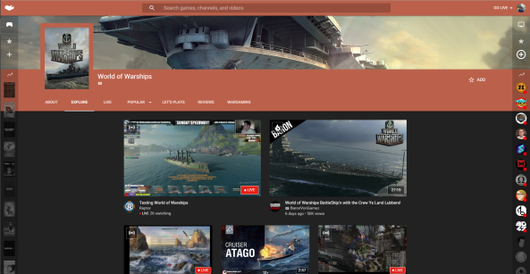 YouTube Gaming World of Warships