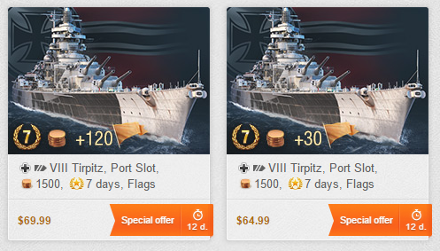 Tirpitz Initial Pricing