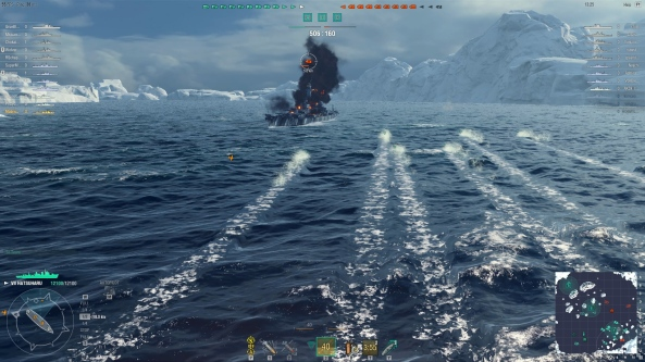 Iowa Dodging Torpedoes Easily